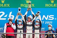 #31 Team WRT Oreca 07 - Gibson LMP2, Robin Frijns, Ferdinand Habsburg, Charles Milesi, 24 Hours of Le Mans , Podium, Circuit des 24 Heures, Le Mans, Pays da Loire, France