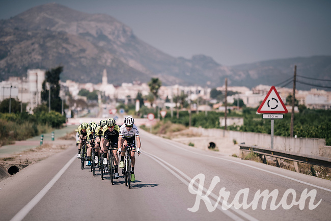2017 TT World Champion Annemiek van Vleuten (NED/Mitchelton-Scott) training with her teammates on her costumized Scott Plasma TT bike<br /> <br /> Mitchelton-Scott Women's team training camp in Oliva (Alicante) /Spain, may 2018<br /> ©kramon