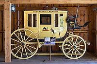 Antique Woodstock to Reading mail carriage, Wilder Barn, , Plymouth Notch, Vermont, USA