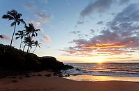 Sunset at Ulua Beach, Wailea, Maui.