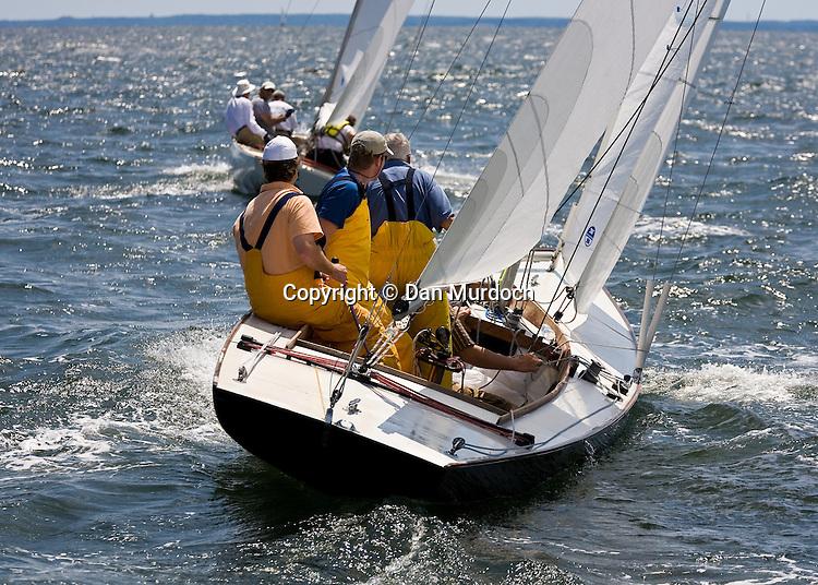 Atlantic sailboat racing upwind