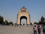 The monument is a majestic monument to the Mexican Revolution and its heroes.