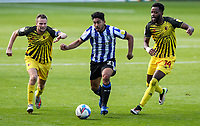 Sheffield Wednesday's Massimo Luongo battles with Watford's Tom Cleverley and Nathaniel Chalobah<br /> <br /> Photographer Alex Dodd/CameraSport<br /> <br /> The EFL Sky Bet Championship - Sheffield Wednesday v Watford - Saturday 19th September 2020 - Hillsborough Stadium - Sheffield <br /> <br /> World Copyright © 2020 CameraSport. All rights reserved. 43 Linden Ave. Countesthorpe. Leicester. England. LE8 5PG - Tel: +44 (0) 116 277 4147 - admin@camerasport.com - www.camerasport.com