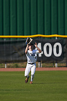 Outfielder Cole Lowe (6) catches a fly ball during the Perfect Game National Underclass East Showcase on January 23, 2021 at Baseball City in St. Petersburg, Florida.  (Mike Janes/Four Seam Images)