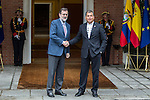 Spanish prime minister Mariano Rajoy and Ecuadorian prime minister Rafael Correa during the meeting at Moncloa Palace in Madrid, Spain. January 30th 2017. (ALTERPHOTOS/Rodrigo Jimenez)