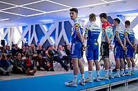 Julian Alaphilippe (FRA/Deceuninck - QuickStep) at the Team Deceuninck-QuickStep press conference at the january 2020 training camp in Calpe, Spain<br />  <br /> ©kramon