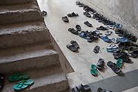 Madrasa Students Leave Shoes Outside their Classroom, Madrasa Imdadul Uloom, Dehradun, India.
