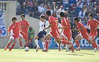 Sacha Kljestan draws a crowd. The USA defeated China, 4-1, in an international friendly at Spartan Stadium, San Jose, CA on June 2, 2007.