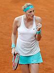 Petra Kvitova, Czech Republic, during Madrid Open Tennis 2015 match.May, 7, 2015.(ALTERPHOTOS/Acero)