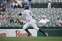 Trenton Thunder outfielder Mason Williams (9) during game against the Akron RubberDucks at ARM & HAMMER Park on July 14, 2014 in Trenton, NJ.  Akron defeated Trenton 5-2.  (Tomasso DeRosa/Four Seam Images)