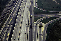 File Photo, Montreal, Quebec, Canada<br /> <br /> Aerial photo of highway 20 toward Montreal<br /> <br /> <br /> <br /> Mandatory Credit: Photo by Pierre Roussel- Images Distribution. (©) Copyright<br />  by Pierre Roussel <br /> <br /> NOTE : <br /> scanned 35 mm neg, saved as  in Adobe 1998 RGB coor space. Contact us if you need a higher res. file