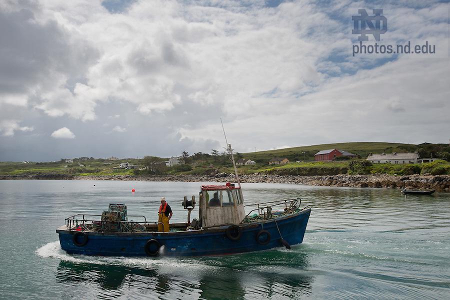Lobster boat, Cleggan..Photo by Matt Cashore/University of Notre Dame