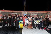 NASCAR Camping World Truck Series<br /> Buckle Up In Your Truck 225<br /> Kentucky Speedway, Sparta, KY USA<br /> Friday 7 July 2017<br /> Christopher Bell, Toyota Toyota Tundra and team celebrate in victory lane <br /> World Copyright: Logan Whitton<br /> LAT Images