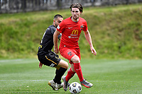 Luke Tongue of Canterbury United during the ISPS Handa Men's Premiership - Team Wellington v Canterbury Utd at David Farrington Park, Wellington on Saturday 19 December 2020.<br /> Copyright photo: Masanori Udagawa /  www.photosport.nz