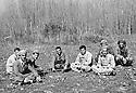 Iraq 1962.In Qara Dagh, from left 4 th Norshiwan Nasti,5 th Sheikh Mohamed Kasnazani, 6 th Sheikh Latif Sheikh Hussein