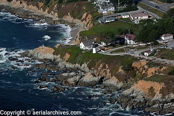 aerial photograph Point Montara Lighthouse, San Mateo County, California