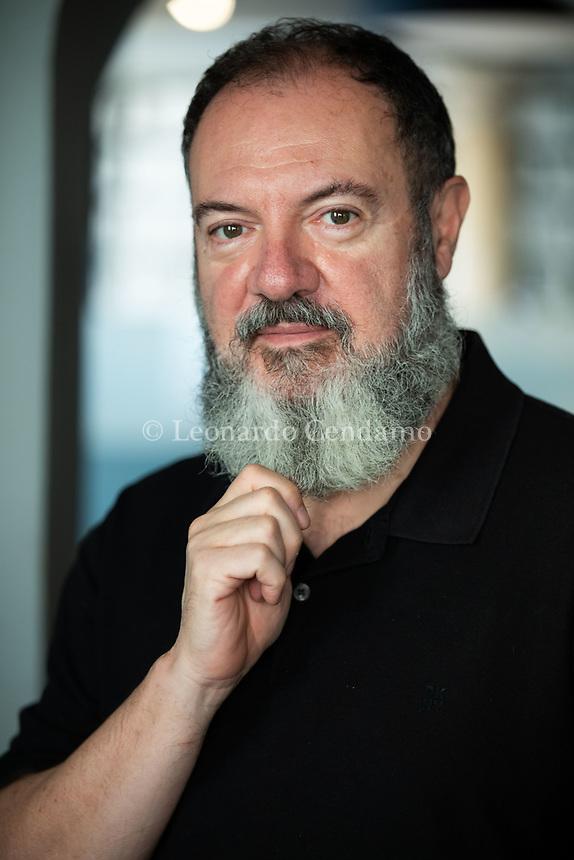 Carlo Lucarelli è uno scrittore, sceneggiatore e conduttore televisivo italiano. Mantova 10 sttembre 2021. Photo by Leonardo Cendamo/Getty Images