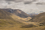 Lindis Pass on State Highway 8, lies between the valleys of the Lindis and Ahuriri Rivers, South Island of New Zealand.