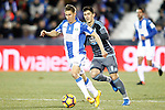 CD Leganes' Alexander Szymanowski (l) and Celta de Vigo's Pedro Pablo Hernandez during La Liga match. January 28,2017. (ALTERPHOTOS/Acero)