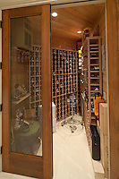 Stock photo of residential wine room