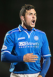 St Johnstone v Motherwell....25.02.14    SPFL<br /> Gary Miller<br /> Picture by Graeme Hart.<br /> Copyright Perthshire Picture Agency<br /> Tel: 01738 623350  Mobile: 07990 594431