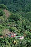 village on the south coast<br /> <br /> <br /> Village sur la cote sud Ile de la Dominique.