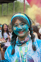 Cute Japanese Girl, The Color Run, Seattle Center, WA, USA.