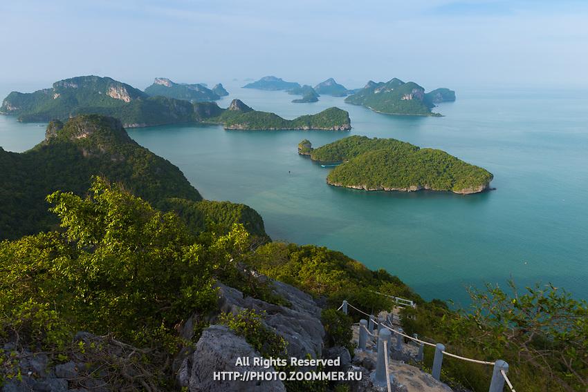 Natural trail in Ko Wua Ta Lap, Ang Thong national marine park, Thailand