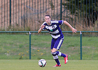 20150904 - TUBIZE , BELGIUM : Anderlecht's Heleen Jaques pictured during a soccer match between the women teams of RSC Anderlecht and KRC Genk Ladies  , on the second matchday of the 2015-2016 SUPERLEAGUE season, Friday 4  September 2015 . PHOTO DAVID CATRY