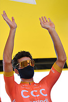 5th September 2020, Grand Colombier, France;  VAN AVERMAET Greg (BEL) of CCC TEAM during stage 8 of the 107th edition of the 2020 Tour de France cycling race, a stage of 140 kms with start in Cazeres-sur-Garonne and finish in Loudenvielle
