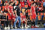 Ludwigshafens Trainer Benjamin Matschke im dunklen Tress beim Spiel in der Handball Bundesliga, Die Eulen Ludwigshafen - SC Magdeburg.<br /> <br /> Foto © PIX-Sportfotos *** Foto ist honorarpflichtig! *** Auf Anfrage in hoeherer Qualitaet/Aufloesung. Belegexemplar erbeten. Veroeffentlichung ausschliesslich fuer journalistisch-publizistische Zwecke. For editorial use only.
