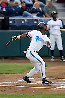 June 22, 2008: The Everett AquaSox's Ryan Royster at-bat against the Boise Hawks during a Northwest League game at Everett Memorial Stadium in Everett, Washington.