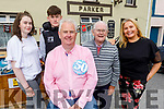 Michael Parker (seated) gets a surprise 50th birthday party from his family in Kilflynn on Sunday.  L to r: Hazel, Gavin, Michael Snr and Geraldine.