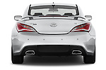 Straight rear view of2015 Hyundai Genesis Coupe 3.8T 8-Speed A/T 2 Door Coupe 2WD Rear View  stock images