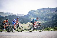 David de la Cruz (ESP/UAE-Emirates) fighting to keep the polka dot jersey<br /> <br /> Stage 5: Megève to Megève (154km)<br /> 72st Critérium du Dauphiné 2020 (2.UWT)<br /> <br /> ©kramon