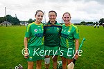 A delighted Elaine Ryall, keeper Aoife Fitzgerald and Michelle Costello of Kerry after winning the Munster Junior Camogie final