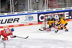 Eishockey: Deutschland – Tschechien am 01.05.2021 in der ARENA Nürnberger Versicherung in Nürnberg<br /> <br /> Tor zum 4:5 durch Tschechiens David Tomasek (Nr.96)<br /> <br /> Foto © Duckwitz/osnapix/PIX-Sportfotos *** Foto ist honorarpflichtig! *** Auf Anfrage in hoeherer Qualitaet/Aufloesung. Belegexemplar erbeten. Veroeffentlichung ausschliesslich fuer journalistisch-publizistische Zwecke. For editorial use only.