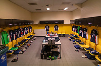 BREDA, NETHERLANDS - NOVEMBER 27: The locker room of the USWNT stands ready before a game between Netherlands and USWNT at Rat Verlegh Stadion on November 27, 2020 in Breda, Netherlands.