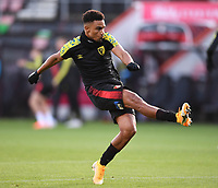 31st October 2020; Vitality Stadium, Bournemouth, Dorset, England; English Football League Championship Football, Bournemouth Athletic versus Derby County; Junior Stanislas of Bournemouth warms up