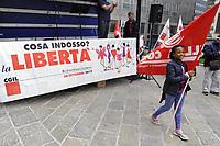 """- Milano, 30 Settembre 2017, manifestazione contro la violenza sulle donne organizzata dalla CGIL """"Cosa indosso? La Libertà"""".<br /> <br /> - Milan, 30 September 2017, demonstration against violence on women organized by CGIL """"What do I wear? Freedom""""."""