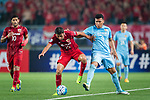 Jiangsu FC Forward Roger Beyker Martinez (R) in action against Shanghai FC Midfielder Akhmedov Odil (L) during the AFC Champions League 2017 Round of 16 match between Jiangsu FC (CHN) vs Shanghai SIPG FC (CHN) at the Nanjing Olympic Stadium on 31 May 2017 in Nanjing, China. Photo by Marcio Rodrigo Machado / Power Sport Images