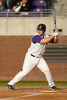 Kyle Roller #19 of the East Carolina Pirates at bat versus the Elon Phoenix at Clark-LeClair Stadium March 29, 2009 in Greenville, North Carolina. (Photo by Brian Westerholt / Four Seam Images)