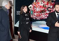 November 15 2017 PARIS FRANCE<br /> Princess Mary Donaldson of Danemark<br /> inaugurates the Christmas window at the<br /> BHV store on rue de Rivoli Paris. She arrives for the inauguration. # LA PRINCESSE MARY INAUGURE LES ILLUMINATIONS DE NOEL GOD JUL