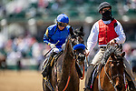 APRIL 30, 2021:  Jose Ortiz  aboard Mayfield wins the Alysheba Stakes at Churchill Downs in Louisville, Kentucky on April 30, 2021. EversEclipse Sportswire/CSM