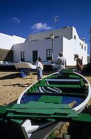 Europe/Espagne/Iles Canaries/Lanzarote/La Caleta de Famara : Le port