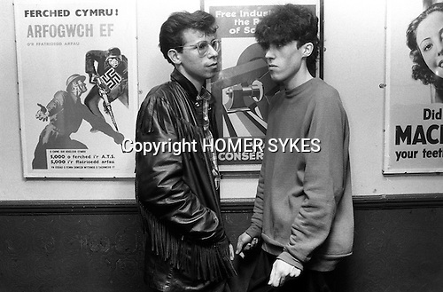 Blitz Kids New Romantics at The Blitz Club Covent Garden, London, England 1980.<br /> <br /> [Left -right ] Martin Welch went on to work as an illustrator at Vogue, and his friend Kevin Jenkins was an illustrator too, but now works as a DJ.<br /> <br /> 16x12 PARIS 2015 LES DOUCHES LA GALERIE