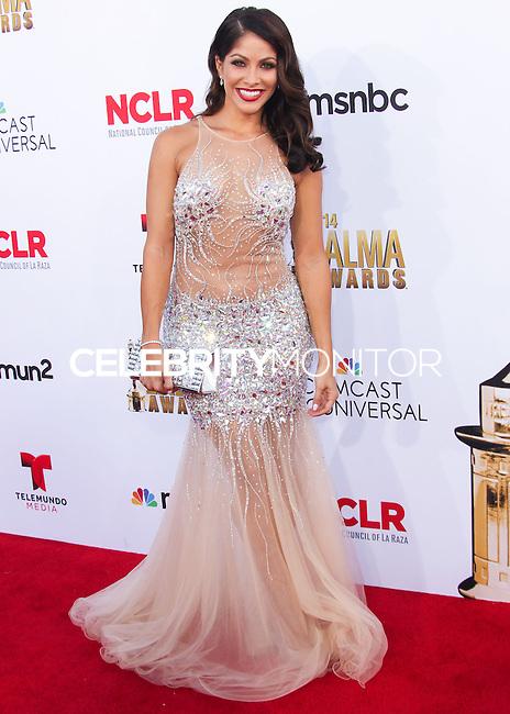 PASADENA, CA, USA - OCTOBER 10: Valery Ortiz arrives at the 2014 NCLR ALMA Awards held at the Pasadena Civic Auditorium on October 10, 2014 in Pasadena, California, United States. (Photo by Celebrity Monitor)