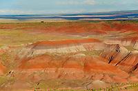 desert of badlands, Painted Desert, Petrified Forest National Park, Arizona, USA