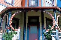 San Diego: House in 2100 block of 2nd Avenue. Entrance detail. (Photo '85)