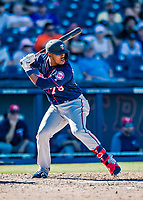 2 March 2019: Minnesota Twins catcher Brian Navarreto at bat during a Spring Training game against the Washington Nationals at the Ballpark of the Palm Beaches in West Palm Beach, Florida. The Twins fell to the Nationals 10-6 in Grapefruit League play. Mandatory Credit: Ed Wolfstein Photo *** RAW (NEF) Image File Available ***